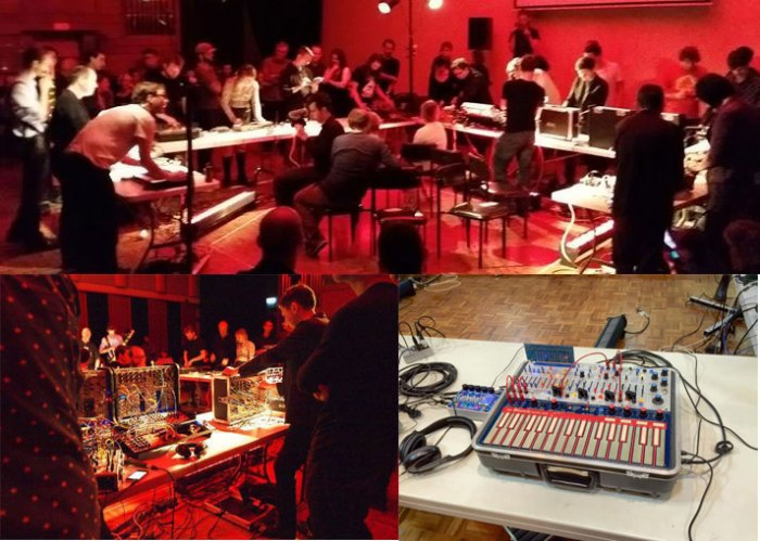 Brisbane Synthesizer Orchestra - 29 August 2015. Top photo by Robert Lort. Bottom left photo by Lindsay Crawford.